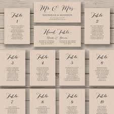 Wedding Seating Chart Template Printable Seating Chart