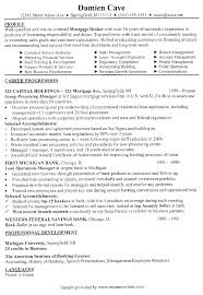 Mortgage Loan Officer Resume Examples Job And Resume Template