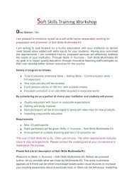 Cover Letter Soft Skills Soft Skills Trainer Resume Personal Trainer