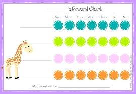 Weekly Reward Chart Printable Animal Reward Charts Free Printable Customizable Charts