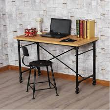 industrial style office furniture. American Industrial-style Loft Desktop Mobile Wrought Iron Wood Tables Minimalist Office Furniture Computer Industrial Style