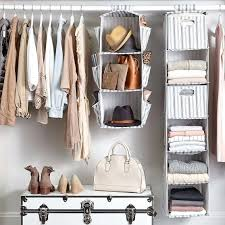 5 shelf hanging closet organizer space saver roomy breathable shelves with 6