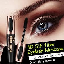 details about black 4d silk fiber eyelash mascara extension makeup black waterproof eye lashes