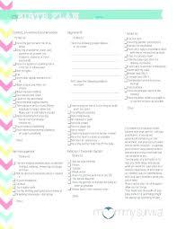 Birth Plan Check List C Section Birth Plan Template Best Birth Plan Template