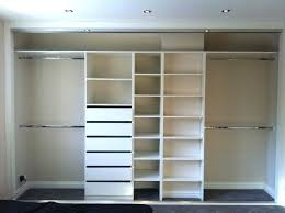 built shelves inside closet and rods in systems ideas organizer wardrobe shelving ideas home design ideas