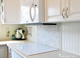White Beadboard Kitchen Cabinets Diy Beadboard Kitchen Backsplash With Wooden Cabinet Kitchen Room