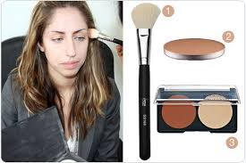 dip an angle brush onto the contour powder tap off the excess here we used a sigma 168 brush with mac sculpting powder in sculpt you can also try make