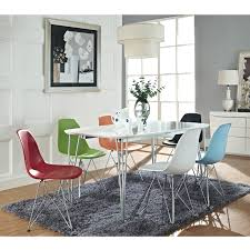 Billig Ess Set Von Hölzernen Stühlen Und Rechteckigen Esstisch Oben
