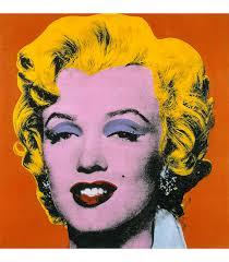 andy warhol marilyn monroe orange printing on canvas