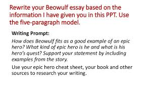 Beowulf Characteristics Of An Epic Hero Chart Essay Heroes Beowulf Custom Paper Sample