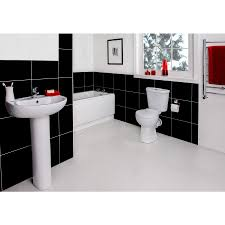 White Bathroom Suite Modern Full Bathroom Suite With 1600mm Bath Toilet And Wash Basin