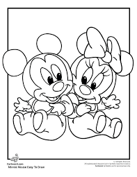 Baby Mickey Mouse Coloring Pages Baby Mickey And Mouse Coloring