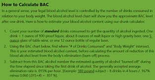 Dui Alcohol Level Chart Ga Dui Law And Bac Legal Limit Alcohol Calculator Chart