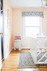 diy home office. Home Office Makeover With Budget-Friendly DIY Projects - Peach Walls, Leopard Prints, Diy