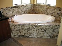 granite bathtub tub deck using decorative wall surround materials granite bathtub surround