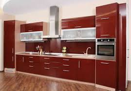 Kitchen designs red kitchen furniture modern kitchen Kitchen Cabinets Bold Red One Wall Kitchen Design With Contrast From Wood Flooring Home Stratosphere The Best 24 Ideas Of One Wall Kitchen Layout And Design