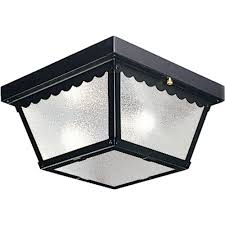 progress lighting 2 light black outdoor flushmount