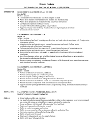 Lab Technician Resume Sample Engineering Lab Technician Resume Samples Velvet Jobs 18