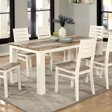 two tone dining chairs 4 owingsville rectangular room table u0026 6 side jpg