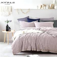 linen duvet cover set modern solid color bedding sets twin queen king size quilt pillowcases home