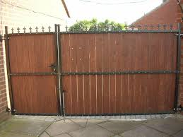 wood gate for picturesque wood and metal dog gates