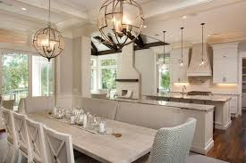 light kitchen table. Gray Wash Dining Table With Side By Benches Light Kitchen A