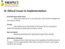 final paper outline pineapples house of treasures v  18 iv incorporating ethics