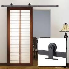 2018 8ft antique style single sliding barn door hardware roller track kit for outside or inside door from sun shine 157 79 dhgate