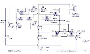 150 watt amplifier circuit 150 watt amplifier