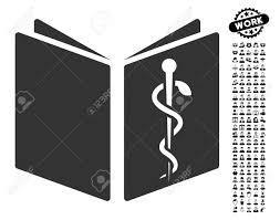 黒ボーナス仕事クリップアートを使って薬物ハンドブック アイコン医薬品ハンドブック ベクトル