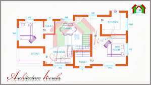 TWO BEDROOM HOUSE PLAN FOR SMALL FAMILIES  SMALL PLOTS - Two bedroomed house plans