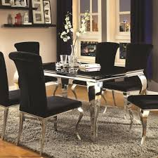 city furniture dining sets aug 12 2018 enchanting coaster carone contemporary rectangular dining table