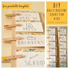 Diy Daily Routine Chart For Kids Daily Routine Chart For