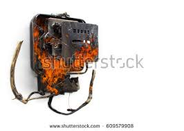 short circuit stock images, royalty free images & vectors Fuse Box Short Circuit a kilo watt hour meter that is burnt by a short circuit due to car fuse box short circuit