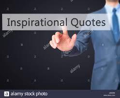 Inspirational Quotes Businessman Hand Pressing Stock Photos