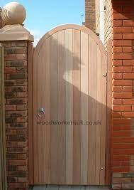 semi circular arched hardwood gates