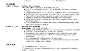Assistant Store Manager Retail Resume Example Contemporary 1 463x600