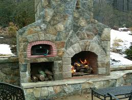 Outdoor Fireplace With Pizza Oven Above