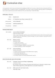 Simple Cv Examples Uk Create A Professional Cv Quick Easy With Our Cv Builder