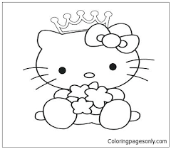 More cartoon characters coloring pages. Hello Kitty Princess 3 Coloring Pages Cartoons Coloring Pages Free Printable Coloring Pages Online