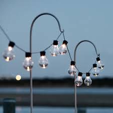 10 warm white carnival solar festoon lights