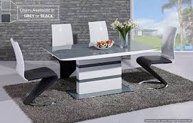 arctic grey glass top and white high gloss dining table 160cm