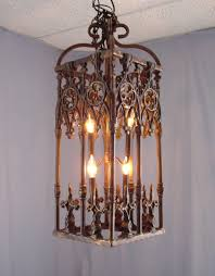 curtain stunning rustic wrought iron chandelier 14 inspiring farmhouse chandeliers rectangle brown box with black candle