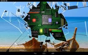Cracked Screen Gyro 3D Parallax ...