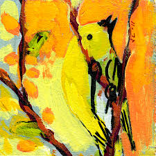 bird painting 16 birds no 1 by jennifer lommers