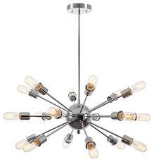 sputnik 18 light chandelier chrome