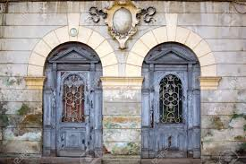 Medieval Doors two wooden ancient doors in medieval village stock photo picture 4635 by xevi.us