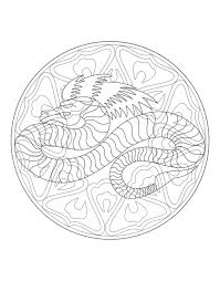 A Imprimer Mandala Dragon 4 Coloriage Mandalas Coloriages Pour