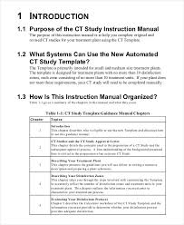 Instruction Manual Template Ct Instruction Manual Template Manual Templates Words