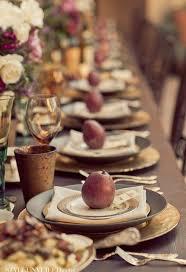 Pretty table for thanksgiving dinner